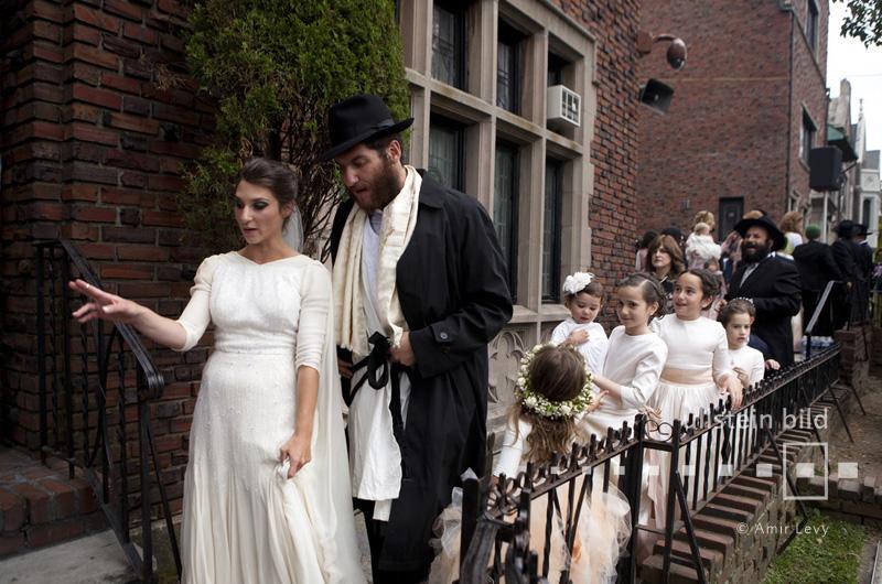 Judische Hochzeit Von Chabad Anhangern In New York City Ullstein