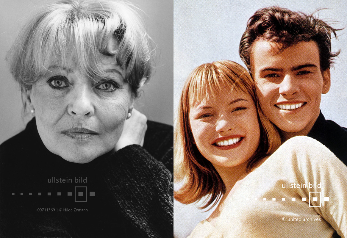 Karin Baal 2000 & 1956 mit Horst Buchholz