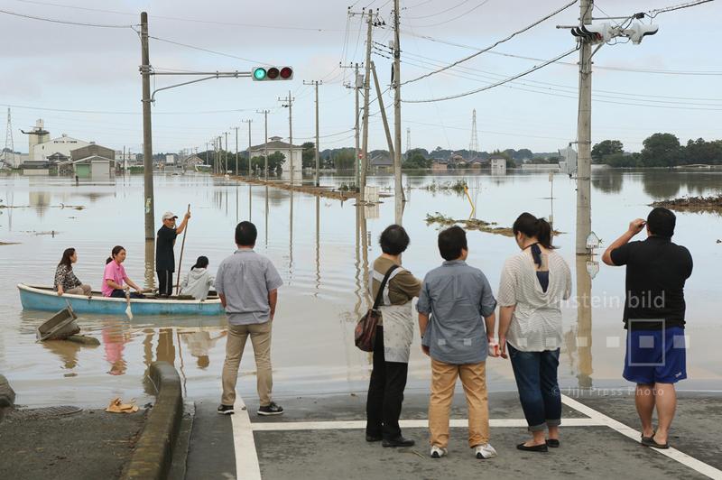 Hochwasser in Joso, nordöstlich von Tokio, 11. September 2015