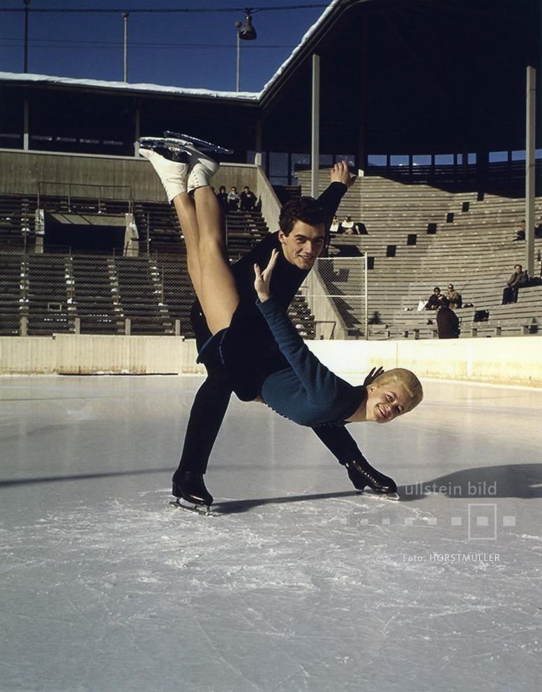 Eiskunstläufer Marika Kilius und Hans-Jürgen Bäumler, 1960er Jahre
