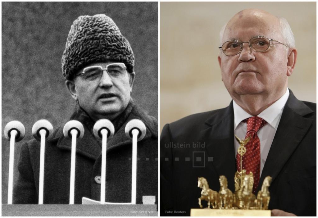 Michail Gorbatschow 1985 & 2009
