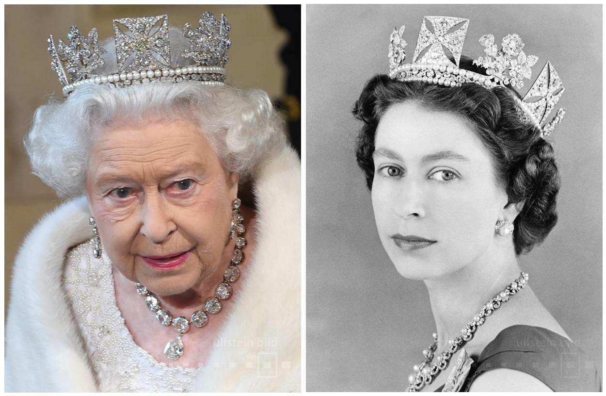 Queen Elizabeth II. 2015 & 1957