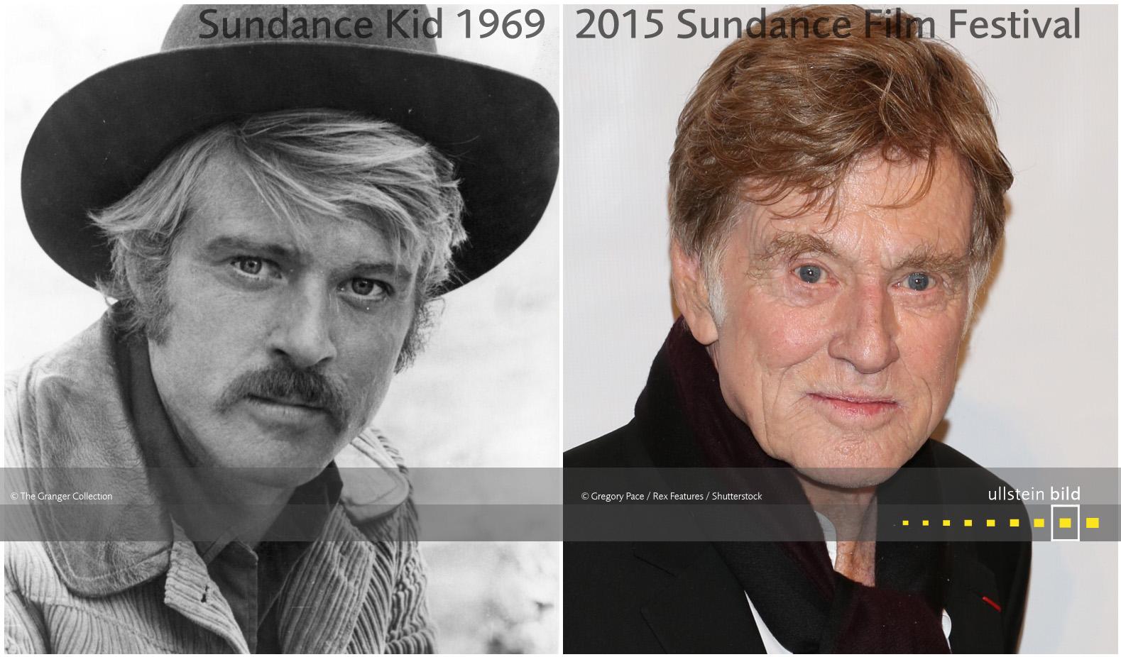 Robert Redford 1969 & 2015