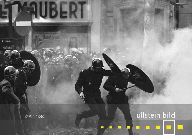 BEGINN DER PARISER MAI-UNRUHEN 50. Jahrestag am 3. Mai 2018