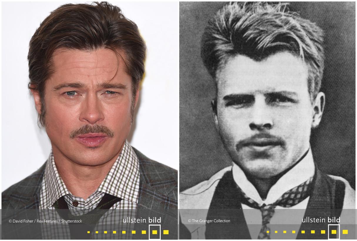 zu den Originalfotos von Brad Pitt & Hermann Rorschach