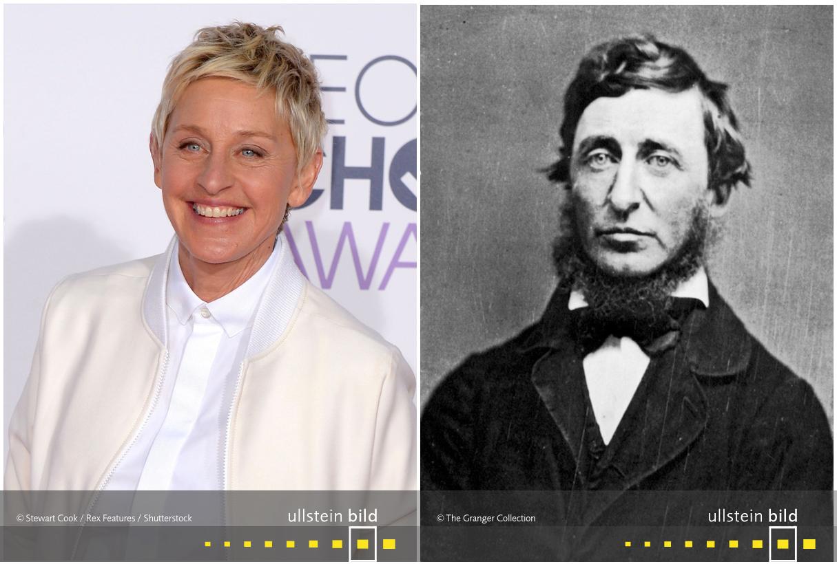 zu den Originalfotos von Ellen DeGeneres & Henry David Thoreau