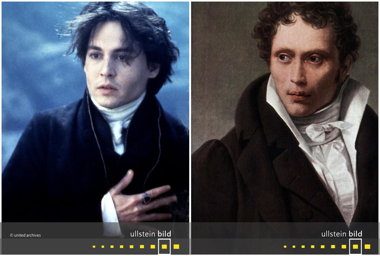 zu den Originalfotos von Johnny Depp & Arthur Schopenhauer