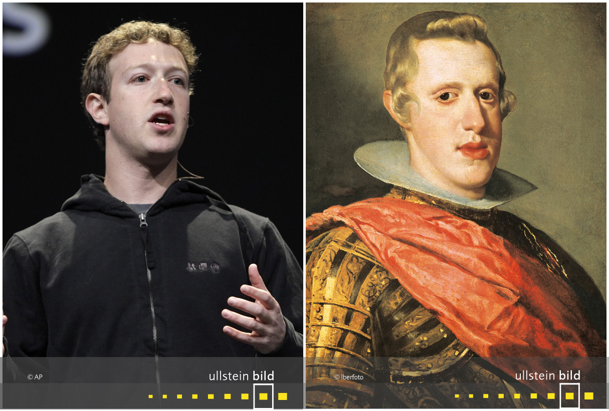 zu den Originalfotos von Mark Zuckerberg & Philip IV. König von Spanien