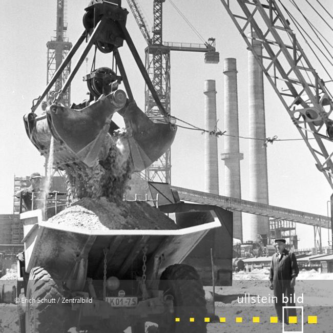 Großbaustelle Kraftwerk Lübbenau 1959 - Fotos von Erich Schutt