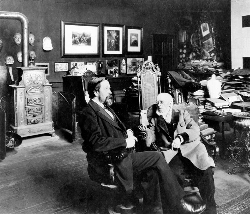 Anton von Werner und Adolph von Menzel, Berlin 1900 © ullstein bild - Zander & Labisch
