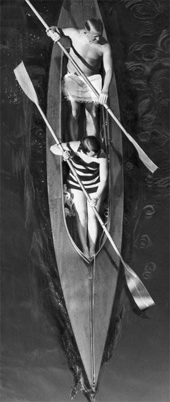 Paar im Kajak, 1929 © ullstein bild - Martin Munkasci
