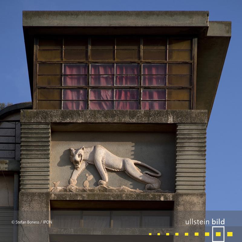 Detail an einem Wohnhaus, von Mario Fanano und Arturo Mezzedimi 1956 erbaut