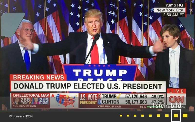 2016: Amerika wacht auf und erfährt, dass Donald Trump tags zuvor zum 45. Präsidenten der USA gewählt worden ist.