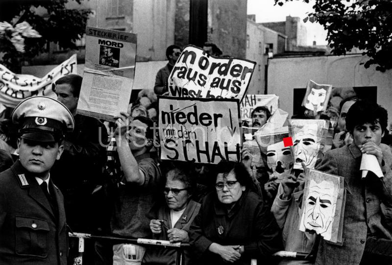 Anti-Schah-Proteste in Berlin am 2. Juni 1967