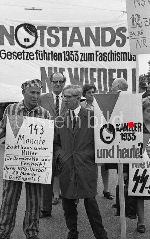 Proteste gegen die Notstandsgesetzgebung 1968