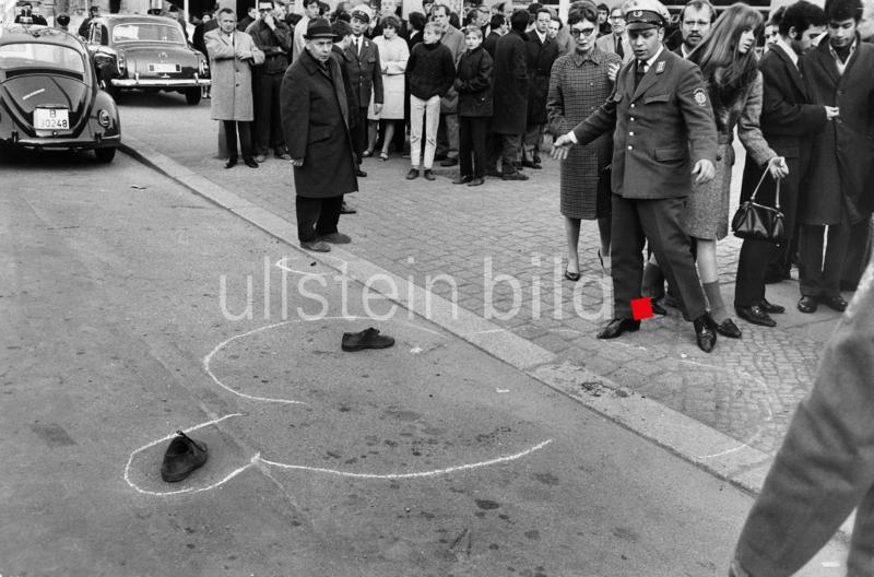 Attentat auf Rudi Dutschke in Berlin am 11. April 1968