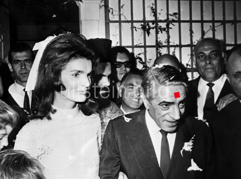 Jackie Kennedy heiratet Aristoteles Onassis am 20. Oktober 1968
