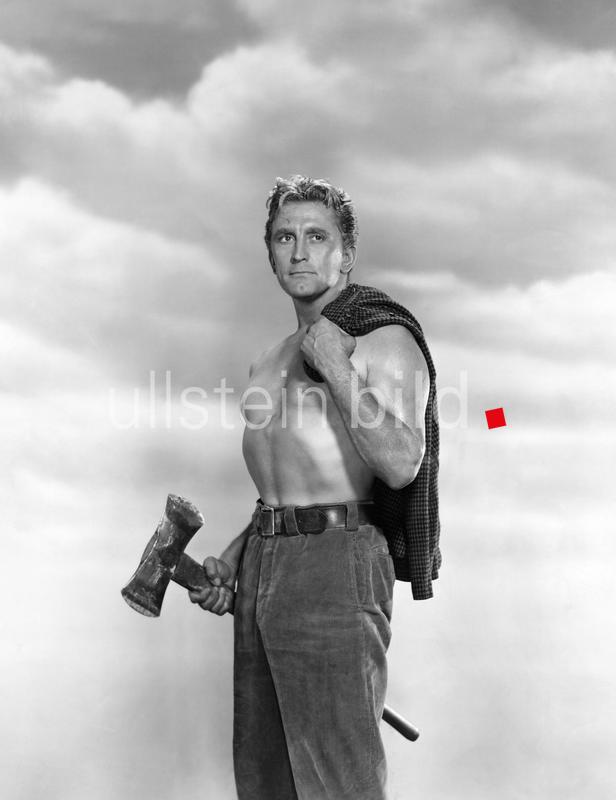Kirk Douglas on-set of the Film, The Big Trees, 1952
