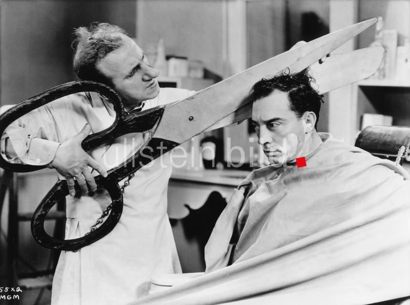Filmszene mit Jimmy Durante (l.) und Buster Keaton, USA 1927.