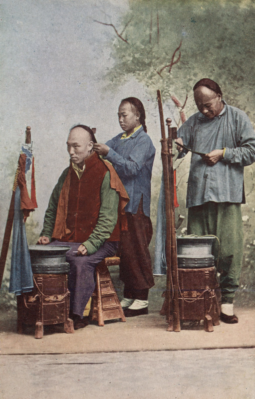 Fiseur Hausbesuch in China 1925.