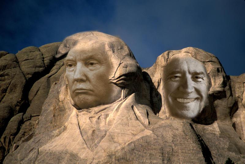 Mount Rushmore mit Joe Biden und Donald Trump Fotomontage: Dittmann